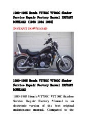 1983 honda shadow 750 service manual