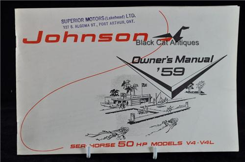 johnson outboard motor repair manuals