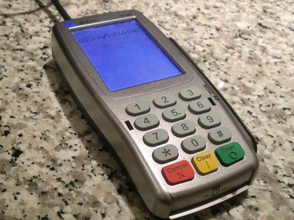 manually key in card payments