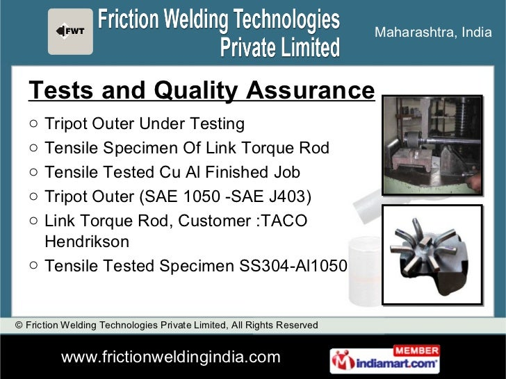 quality assurance manual for welding
